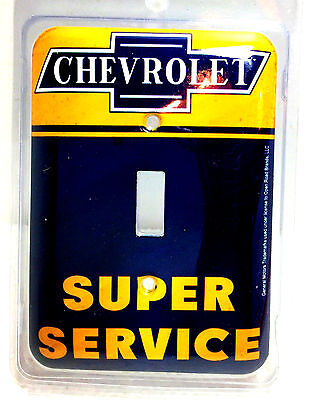 Chevrolet Super Service Metal Light Switch Cover Plate - New