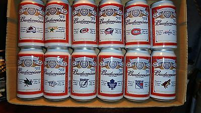 30 Can Set Budweiser Hockey Cans From Canada (2012)