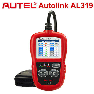 Original Autel AL319 OBD2 CAN Diagnostic Scanner Color Screen Fault Code Reader