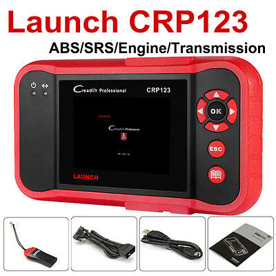 LAUNCH X431 CRP123 OBD2 Auto Diagnostic Tool Engine A/T Airbag Better than VII+