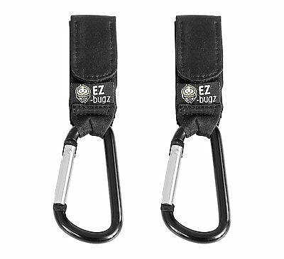EZ-Bugz Buggy Clips. Hook your shopping & bags safely on your Stroller, or Pram.