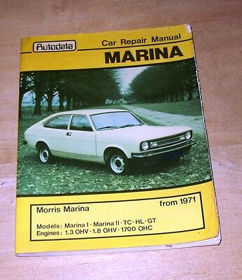 MARINA  car repair manual - Autodata 1971