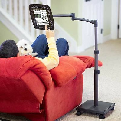 LEVO Deluxe tablet Floor Stand for All iPads,Tablets, and eReaders with casters