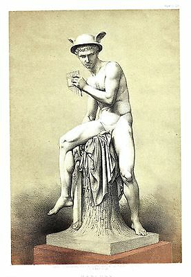"""Mercury (The Winged Messenger) A God of Ancient Rome - After Thorwaldsen 11""""x14"""""""