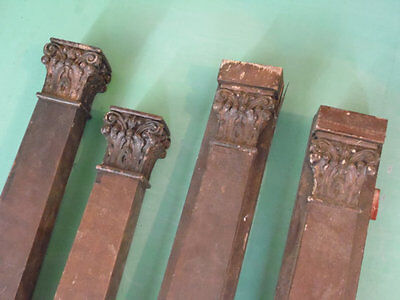 Architectural Salvage Piano Parts Wood Pillars Pilasters Vintage