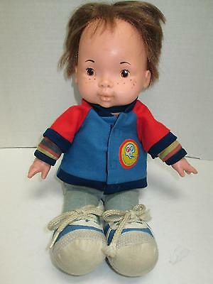 VIntage 1970's FISHER-PRICE 206 Lapsitter Joey Doll with Jacket Good Light Wear