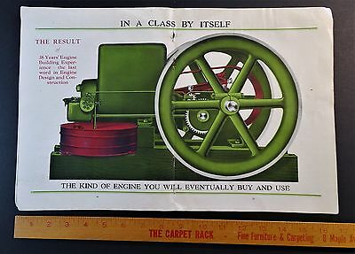 RARE Advertising Catalog - WITTE Engines ca 1910 Hit Miss Gas Kerosene w Insert