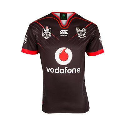 Canterbury New Zealand Warriors 2017 Mens Home NRL Rugby Jersey Shirt Black