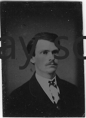 ANTIQUE TINTYPE #6 Handsome Young Man Vintage Ferrotype Gay Interest Formal