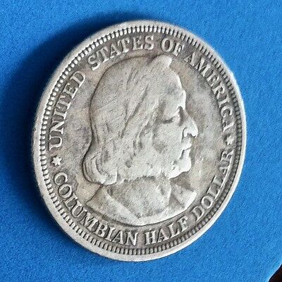 1892 Columbian Exposition Half Dollar US Commemorative Silver Coin