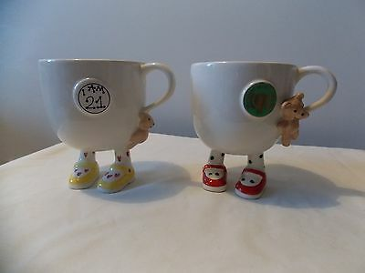 Carlton Ware special Walking Ware mugs - I am 21 birthday and Year of the child.