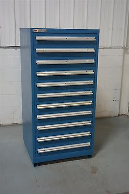 Used Stanley Vidmar 11 Drawer Cabinet 61 Inch Tall Industrial Tool Storage #872