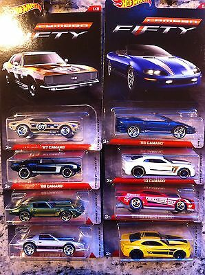 2017 Hot Wheels Camaro 50th anniversary~set of 8~FREE SHIPPING in the U.S.!