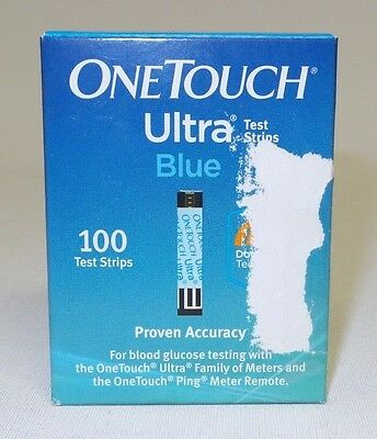 Sealed 100 OneTouch Ultra Blue Test Strips (Exp 3/18) - Free Shipping!