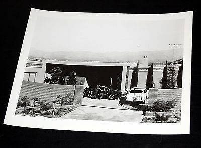 1960's SONNY Bono Cher At Home With Cars Vintage 8x10 Press Photo