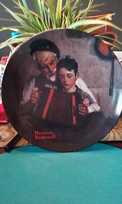 "1981 Norman Rockwell fine China plate ""The Music Maker"""