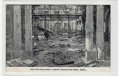 INTERIOR, GENERAL POST OFFICE, DUBLIN: 1916 Easter Rising postcard (C25730)