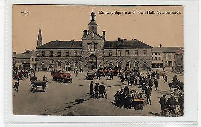 CONWAY SQUARE AND TOWN HALL, NEWTOWNARDS: Co Down, N Ireland postcard (C25738)