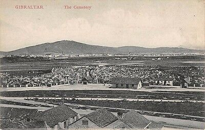 GIBRALTAR,   The Cemetery,  Printed Postcard by V.B. Cumbo