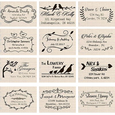 custom name self inking personalized family business return address rubber stamp