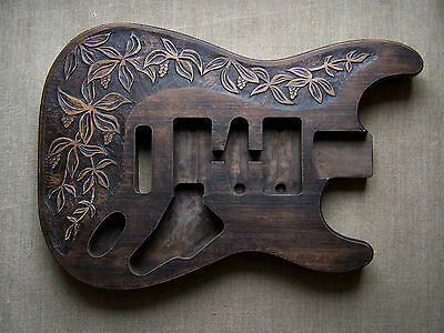 Hand carved guitar body for Stratocaster