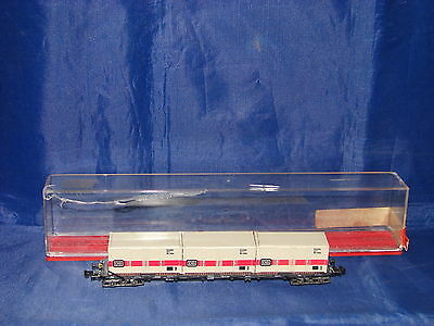 N Wagon Long Plat Charge Containers Rowa 710 Train Electrique Boite