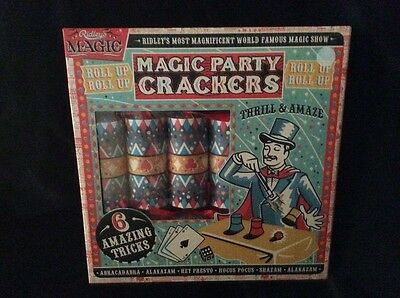 Ridley's Magic Party Crackers set of 6 brand new in box FREE postage