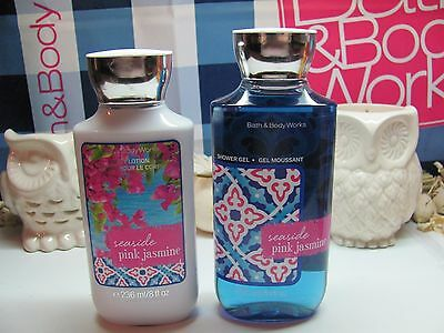 Bath and Body Works ~ Seaside Pink Jasmine ~ Lotion & Shower Gel Full Size