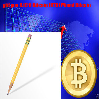 0.020 Bitcoin (BTC) Mined Bitcoin Direct To Your Wallet By CryptoCoinShop