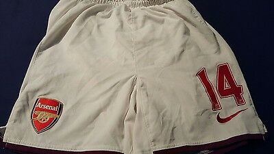 Arsenal 2008-09 Home Football Shorts Number 14 (S)
