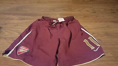 Arsenal 2007-08 Away Football Shorts Number 11 (S)