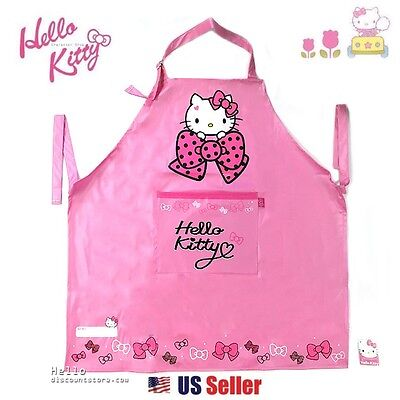 Sanrio Hello Kitty Waterproof Apron with Adjustable Strap and Pocket Kitchen