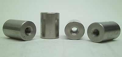 """PACK OF 4! NEW! SS STAINLESS SPACER THREADED 1/4-20 x 7/8""""L x 5/8""""W RC"""
