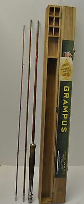 Grampus 3 Piece The Best Bamboo Combination Fly/Casting Rod with Wood Box