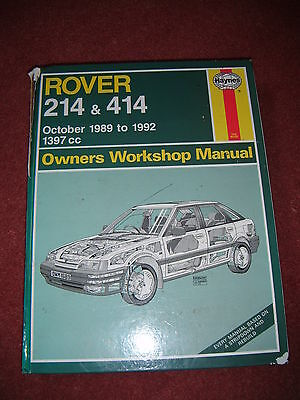 Haynes Manual for Rover 214 & 414