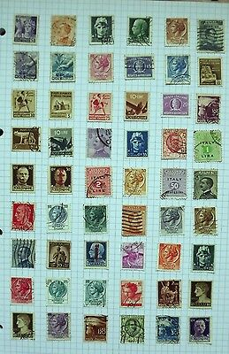 Italy. Collection of 54 stamps.      A