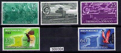 TRINIDAD & TOBAGO ~ 1962 Independence Issue SG#300/304; MNH