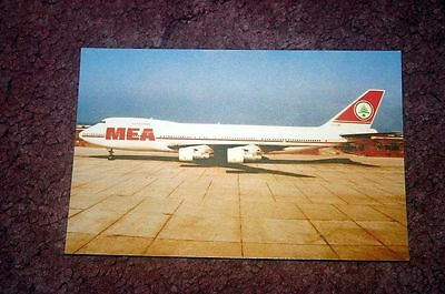 Middle East Airlines Boeing 747-200 Airline Issue Postcard