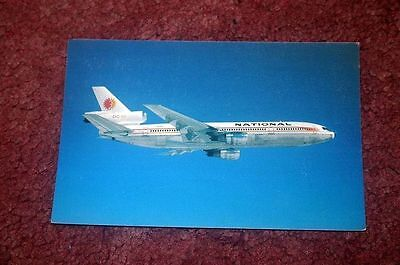National Airlines Mcdonnell-Douglas Dc-10 Airline Issue Postcard