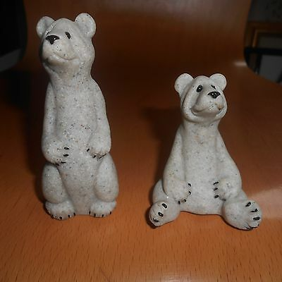 quarry critters in form of seated and standing bears