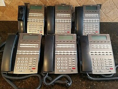 NEC DSX 22B Display Telephone Lot of 6 Business Office Phones Stock #1090020