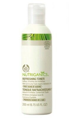 The Body Shop NUTRIGANICS REFRESHING TONER 200ml *Brand New* FAST POST!!!