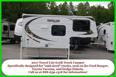 2017 Travel Lite Hard Sided Slide In Truck Camper 610R Small Mid Size Truck Beds