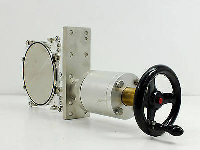 """Precision Wafer High Vacuum Transport System 4"""" Overall Travel 6"""" Plate"""
