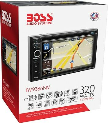 Boss BV9386NV-Double-DIN Navigation Receiver DVD/CD with Bluetooth BRAND NEW!