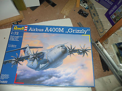 """Aviation : Airbus A400M """"grizzly"""" Model Kit Made By Revell Scale 1:72 No. 04800"""