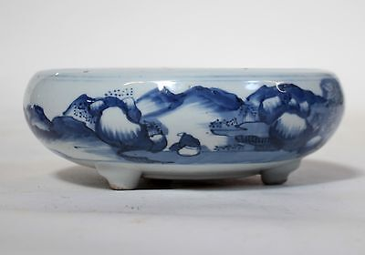A Chinese Antique Blue and White Porcelain Censer KangXi