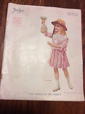 Vintage Judge Sept. 8, 1917 Humorous Publication in America -Military-Scarce