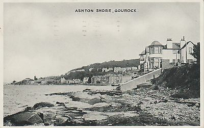 Gourock - Ashton Shore - Renfrewshire - Real Photo  Early Postcard