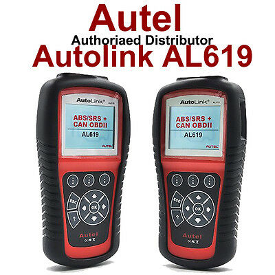 100% Genuine Autel AL619 OBD2 Car Diagnostic Tool ABS SRS Fault Code Reader Fast